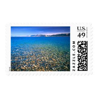 UTAH. USA. Clear water of Bear Lake reveals Postage