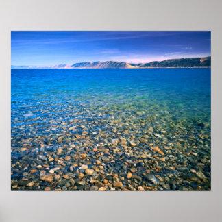 UTAH. USA. Clear water of Bear Lake reveals Poster