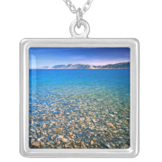 UTAH. USA. Clear water of Bear Lake reveals Silver Plated Necklace