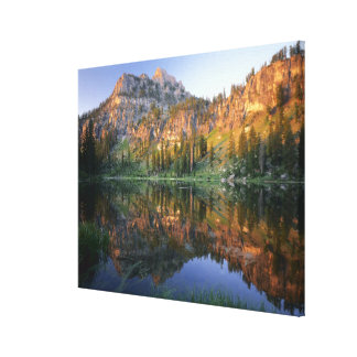 UTAH. USA. Mt. Magog reflected in White Pine Canvas Print