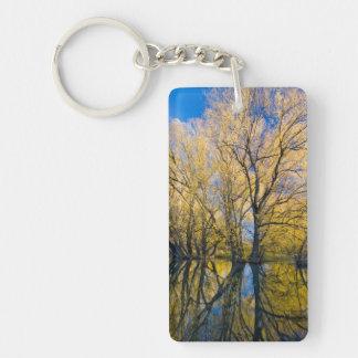 Utah. USA. Peachleaf Willow Trees Double-Sided Rectangular Acrylic Keychain