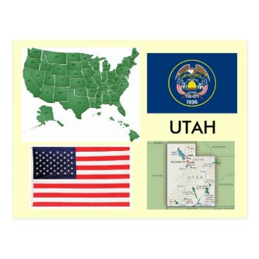 USA Themed Utah, USA Postcard
