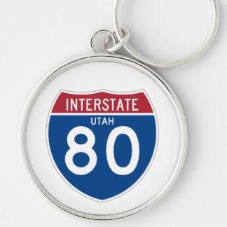 Utah UT I-80 Interstate Highway Shield - Keychain