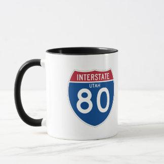 Utah UT I-80 Interstate Highway Shield - Mug