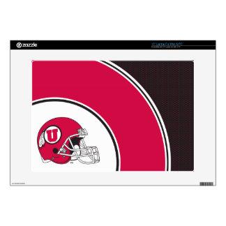 """Utah Utes Helmet 15"""" Laptop Skin"""