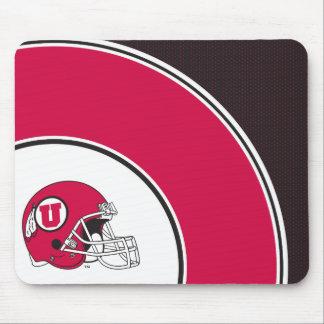 Utah Utes Helmet Mouse Pad