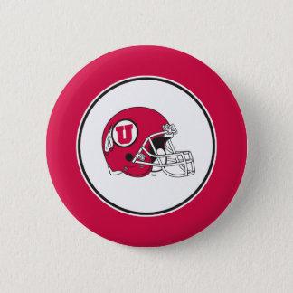 Utah Utes Helmet Pinback Button