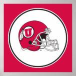 Utah Utes Helmet Poster