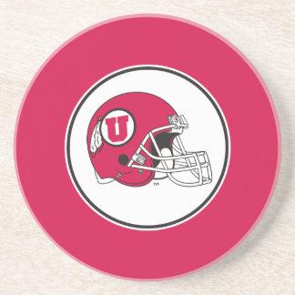 Utah Utes Helmet Sandstone Coaster