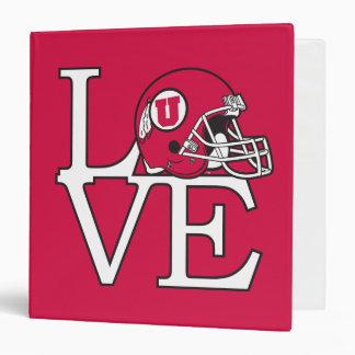 Utah Utes Love Binder