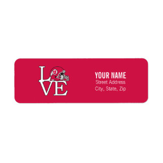 Utah Utes Love Label