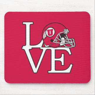 Utah Utes Love Mouse Pad