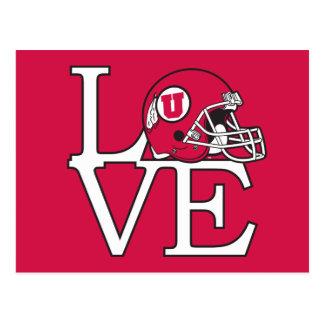Utah Utes Love Postcard