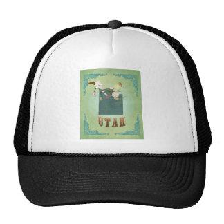Utah Vintage State Map – Green Trucker Hat