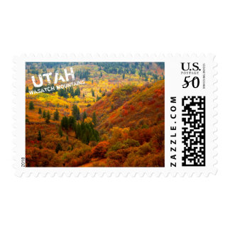 Utah Wasatch Mountain Fall Landscape Postage