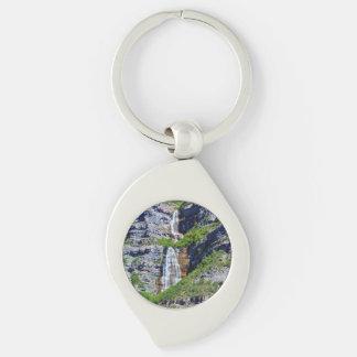 Utah Waterfall #1 - Keychain - Swirl Metal