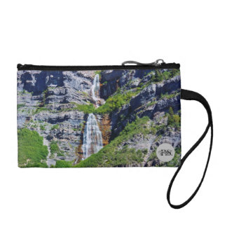 Utah Waterfall #1 - Monogram Key Coin Clutch