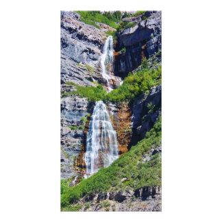 Utah Waterfall #1a- Photocard Photo Greeting Card