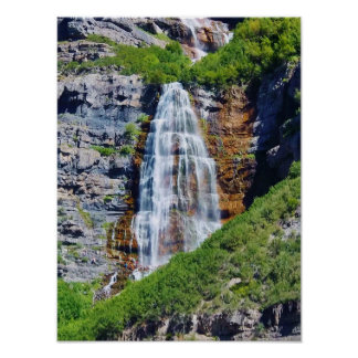 Utah Waterfall #1b- Poster (choose size)
