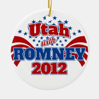 Utah with Romney 2012 Ceramic Ornament