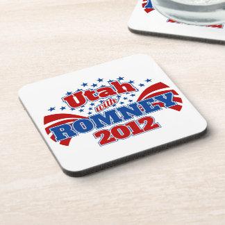 Utah with Romney 2012 Drink Coaster