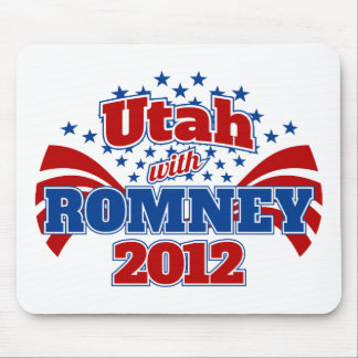 Utah with Romney 2012 Mouse Pad