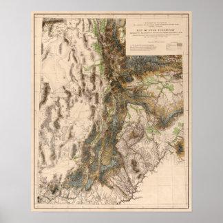 UtahPanoramic MapUtah Poster
