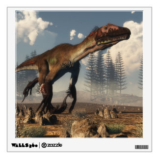 Utahraptor dinosaur in the desert - 3D render Wall Sticker