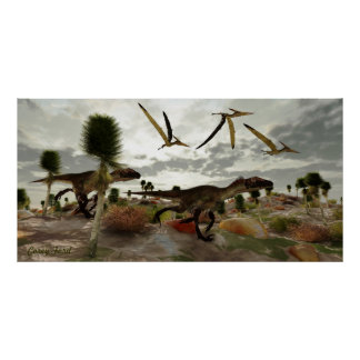 Utahraptor Hunt Print