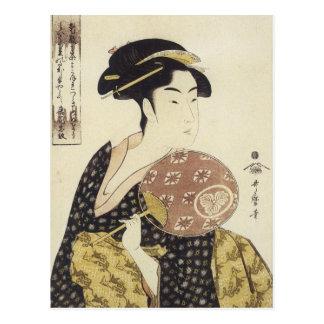 Utamaro Beauty Ohisa 1792 Art Prints Postcard