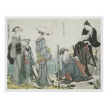 Utamaro Colors And Scents of Flowers 1784 Art Poster