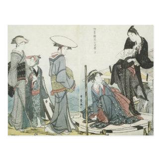 Utamaro Flowers Of The Four Seasons 1784 Art Postcard
