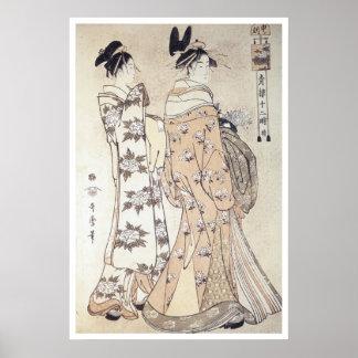 Utamaro Hour Of The Monkey 1780 Art Prints