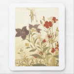 Utamaro Insects And Flowers 1788 Art Prints Mouse Pad