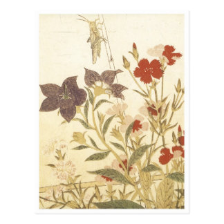 Utamaro Insects And Flowers 1788 Art Prints Postcard