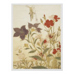 Utamaro Insects And Flowers 1788 Art Prints Poster