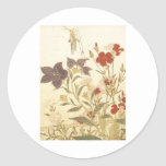 Utamaro Insects And Flowers 1788 Art Prints Classic Round Sticker