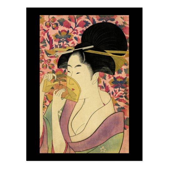 Utamaro Kitagawa Kushi Comb Postcard