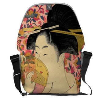 Utamaro: Kushi (Comb). Courier Bag