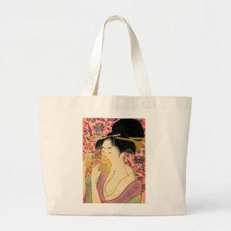 Utamaro: Kushi (Comb). Large Tote Bag