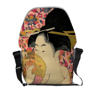 Utamaro: Kushi (Comb). Messenger Bag