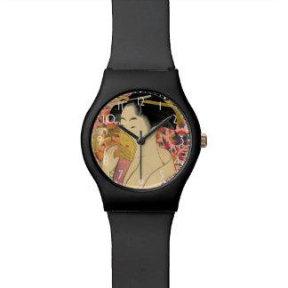 Utamaro: Kushi (peine). Relojes