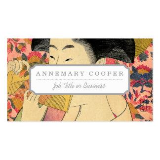Utamaro: Kushi (peine). Tarjetas De Visita