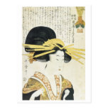 Utamaro Prim Type Japanese Art Prints 1800 Post Cards