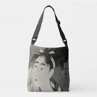 Utamaro's Ase O Fuku Onna art bags