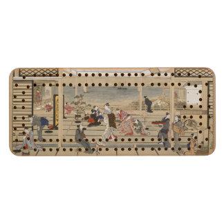 Utamaro's Japanese Art custom Cribbage board