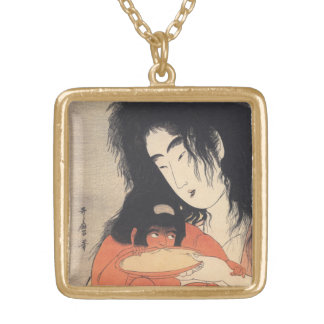 Utamaro's Japanese Art custom necklace