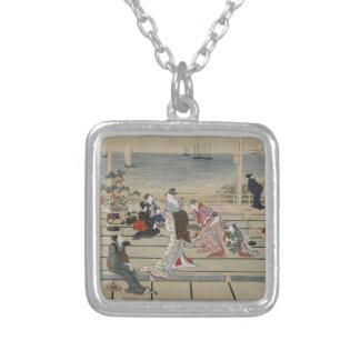 Utamaro's Japanese Art necklace