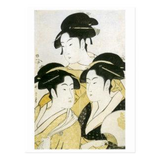 Utamaro Three Beauties 1790 Art Prints Postcard