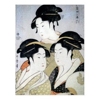 Utamaro Three Beauties of Edo Postcard